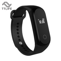 TTLIFE Bluetooth Smart Bracelet Heart Rate Tracker Wristband Fitness Tracker Remote Camera for Android IOS Smart Clock