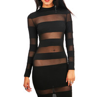 Stripe Tease Dress - Sexy Dresses at Pinkice.com