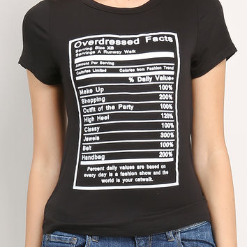 Overdressed Facts Printed Top