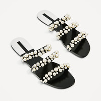 PEARLY STRAPPY SANDALS - NEW IN-WOMAN   ZARA United States