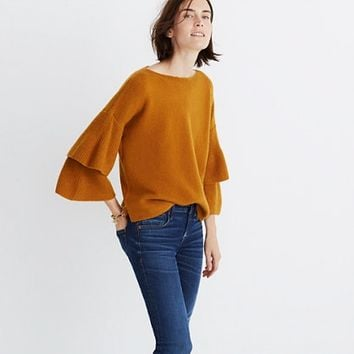 Tier-Sleeve Pullover Sweater