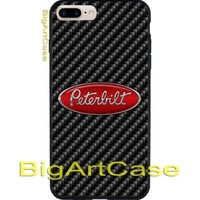 Peterbilt Truck  Logo Print On Hard Plastic CASE COVER iPhone 6s/6s+/7/7+/8/8+