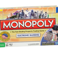 MONOPOLY Brand Electronic Banking Edition | Board Games for ages 8 & Up | Hasbro