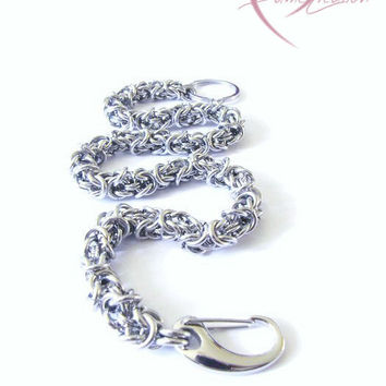 Stainless Steel Wallet Chain - Chainmaille Wallet - Mens Wallet Chain - Biker Chain - Byzantine Wallet Chain - Men's Accessories