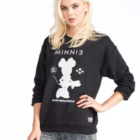 Neff Disney Collection Minnie Stand Up Womens Sweatshirt Black  In Sizes
