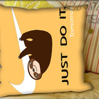 Sloth Just Do It - Pillow Cover and Pillow Case.