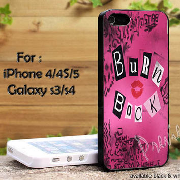 Mean Girls Burn Book iPhone 4, iPhone 4s, iPhone 5, Samsung Galaxy S III, Samsung Galaxy S IV Case