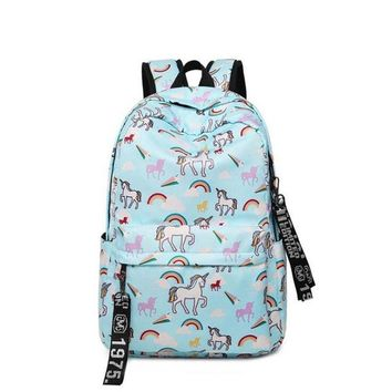 Girls bookbag Unique Printing Backpack Waterproof Canvas Backpack Women Animal Flamingo Floral Bookbags Rucksack Casual Schoolbag for Girls AT_52_3