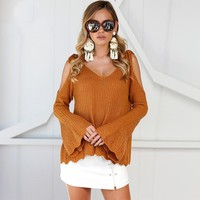 Cold Shoulder Sweater 2 Colors