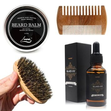 Beard Oil & Balm Set - INCLUDES FREE BRUSH AND COMB for less than most pay for just the Balm&Oil