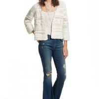 Raswana Cotton Crochet Sweater Jacket | Calypso St. Barth