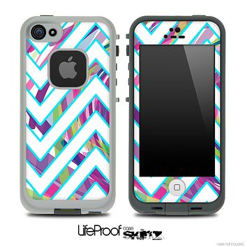 Large Chevron and Color Brushed V3 Skin for the iPhone 5 or 4/4s LifeProof Case