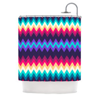"Nika Martinez ""Surf Chevron"" Shower Curtain"