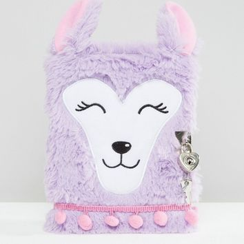 Paperchase Llama Fluffy Notebook at asos.com