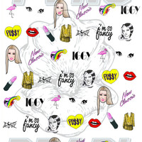 IGGY AZAELEA - waterslide nail decals - free shipping U S A - Andy Paerels