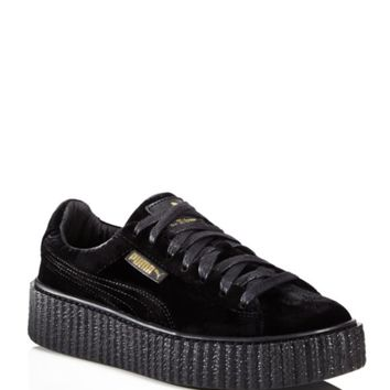 FENTY Puma x Rihanna Women's Velvet Lace Up Creeper Sneakers | Bloomingdales's