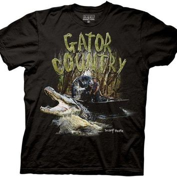 Swamp People Gator Country Troy Landry Licensed Adult T-Shirt S-2XL History
