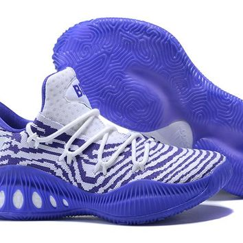 Adidas Performance Men's Crazy Explosive Primeknit Basketball Shoe -White/Purple