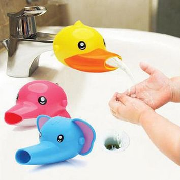 1PCS Cute Cartoon Faucet Extender For Helps Children Toddler Kid Hand Washing in Bathroom Sink Bathing Accessories