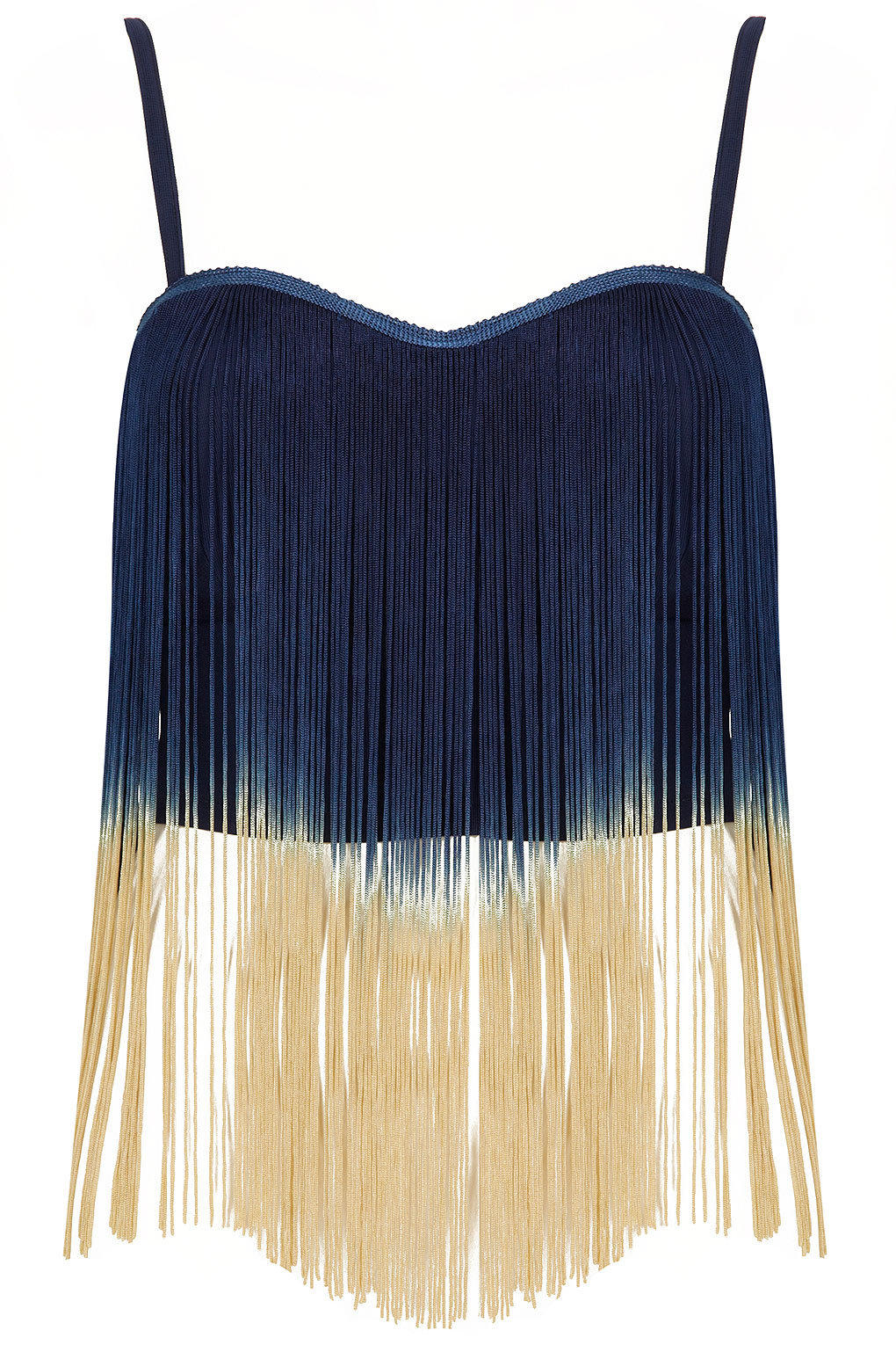Fringe Crop Top By Rare Tops From TOPSHOP Tops