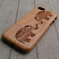 Lover Elephant iPhone 6 Case Wood iPhone iPhone 5s iPhone 6 Plus wooden case iPhone 5c Case iPhone4 Case Samsung Galaxy S6 Case note3/4 Case