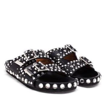 GIVENCHY | Crystal Embellished Sandals | brownsfashion.com | The Finest Edit of Luxury Fashion | Clothes, Shoes, Bags and Accessories for Men & Women