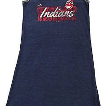 Cleveland Indians Majestic T Back Sleeveless Dress Ladies Size M