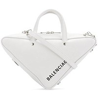 Balenciaga Women's 476975C8K029000 White Leather Handbag