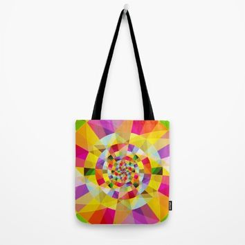 Colorful Abstract Swirly Tune Design (Fancy Fresh And Modern Hippy Style) Tote Bag by Jeanette Rietz