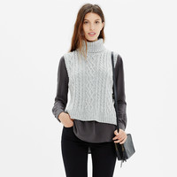 Turtleneck Sweater-Vest