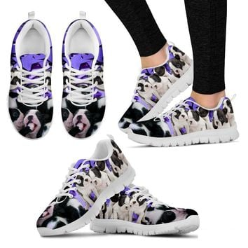 Boston Terrier Group-Dog Running Shoes For Women-Free Shipping