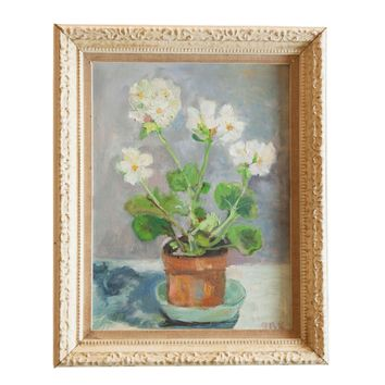 Grace Keogh Potted White Flowers Painting