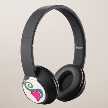 Rainbow Hearts Headphones