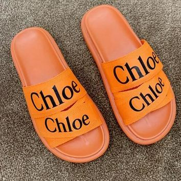 Chloe Fashion Women Casual Flat Sandal Slippers Shoes Orange