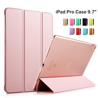 Smart Cover Tablet Folding Folio Case for Apple iPad Pro 9.7 inch Auto Wake / Sleep Rose Gold
