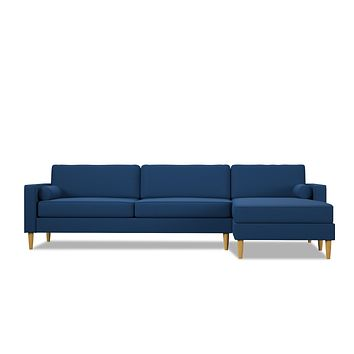 Samson 2pc Sectional Sofa :: Leg Finish: Natural / Configuration: RAF - Chaise on the Right