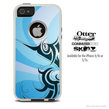 The Abstract Fish Skin For The iPhone 4-4s or 5-5s Otterbox Commuter Case