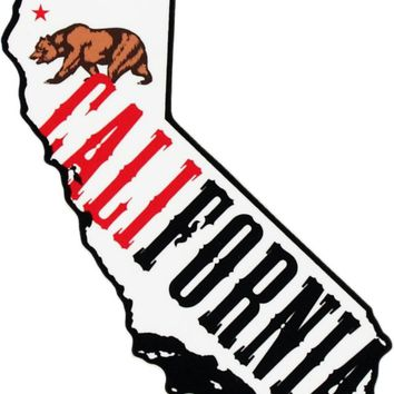 California Bear Fill Sticker