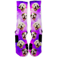 Puppy Power Galaxy Custom Nike Elite Socks