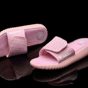 """Adidas"" Women Yeezy Boost Pink Sandals Pink"