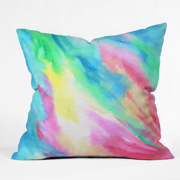 Rosie Brown Rainbow Connection Outdoor Throw Pillow