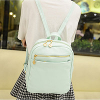 ♡ Pastel Leather Backpack for Teenage Girl ♡