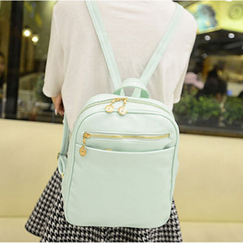 Fashion Women Backpack Bag 2016 PU Leather