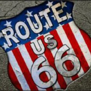 Route 66 Cracked Pavement Decorative Sign Tag License Plate
