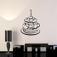 Vinyl Decal Cake Kitchen Pie Confectionery Bakery Bakehouse Wall Stickers Unique Gift (ig2685)