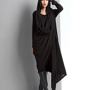 Reborn Collection Black Drape Open Cardigan | zulily