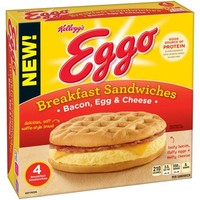 Kellogg's Eggo Bacon, Egg & Cheese Breakfast Sandwiches, 4 count, 10.8 oz - Walmart.com