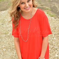 SHORT SLEEVE PIKO IN RED