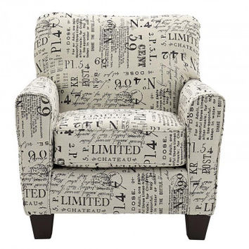 Typo Accent Chair   American Freight
