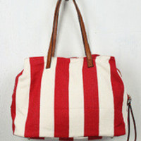 Vertical Stripes Canvas Bag